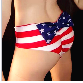 American Flag Bow Thong Separates S..