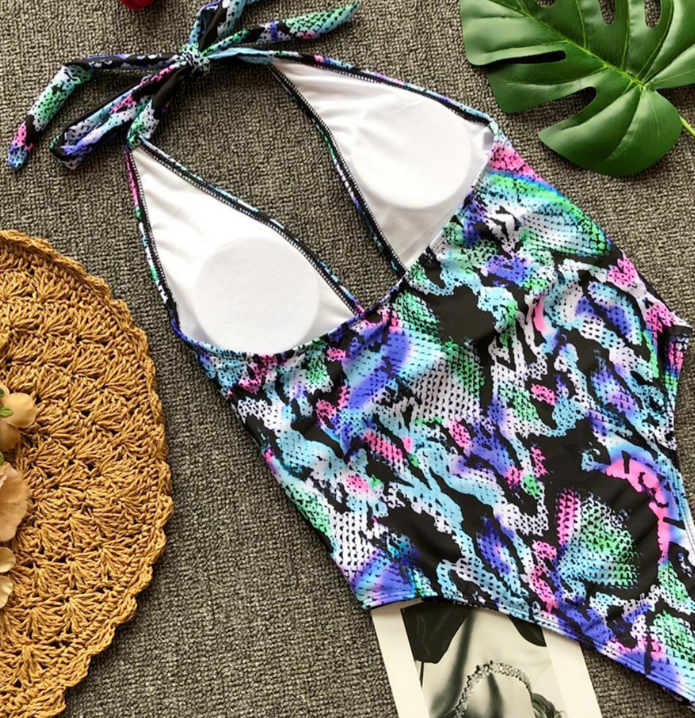Pop sexy Leopard pattern swimsuit