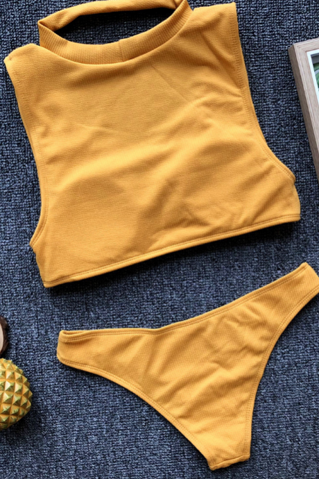 High-quality pit bar fabric for new women's seperated swimsuits