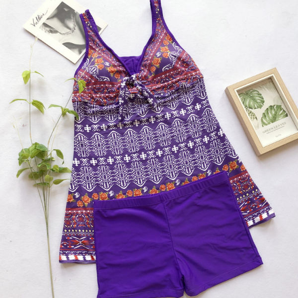 Women's printed swimsuit with oversized swimsuit