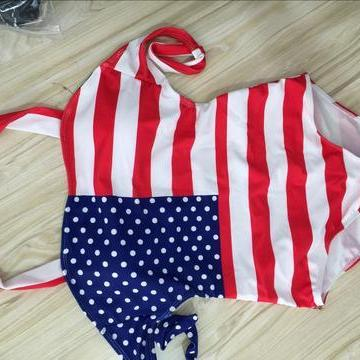 FASHION FLAG ONE PIECE BIKINIS SWIMWEAR BATHSUIT
